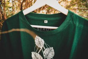 STAUBTÄNZER Shirt LEAF No. 2 bottle green