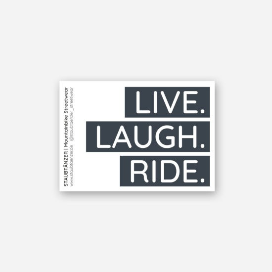 Sticker LIVE LAUGH RIDE
