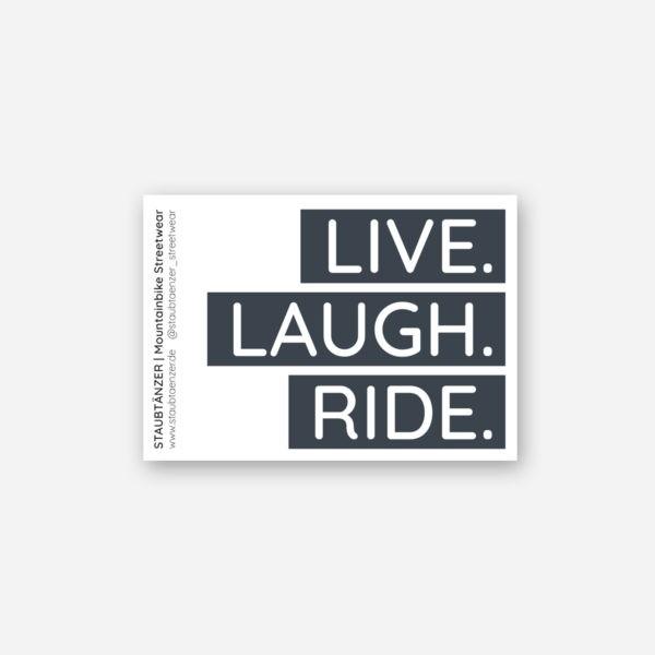 Sticker LIVE LAUGH RIDE